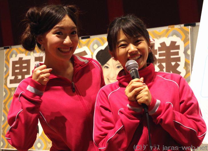 (左)江川清音キャスター、(右)角田奈緒子キャスター