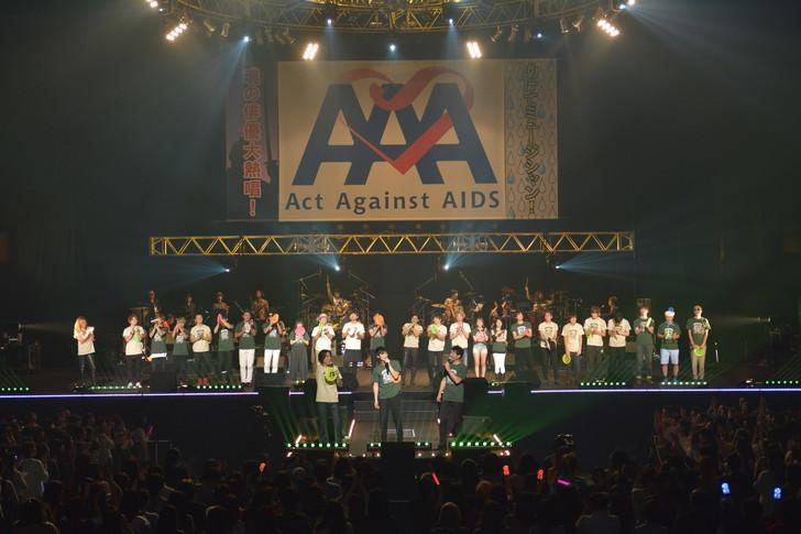 エンディング、オールキャスト大集合 © AMUSE © ActAgainstAIDS