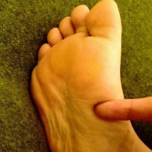 拇指球の下 胃の反射区