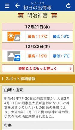 初詣情報(サンプル) (c)Weathernews Inc.